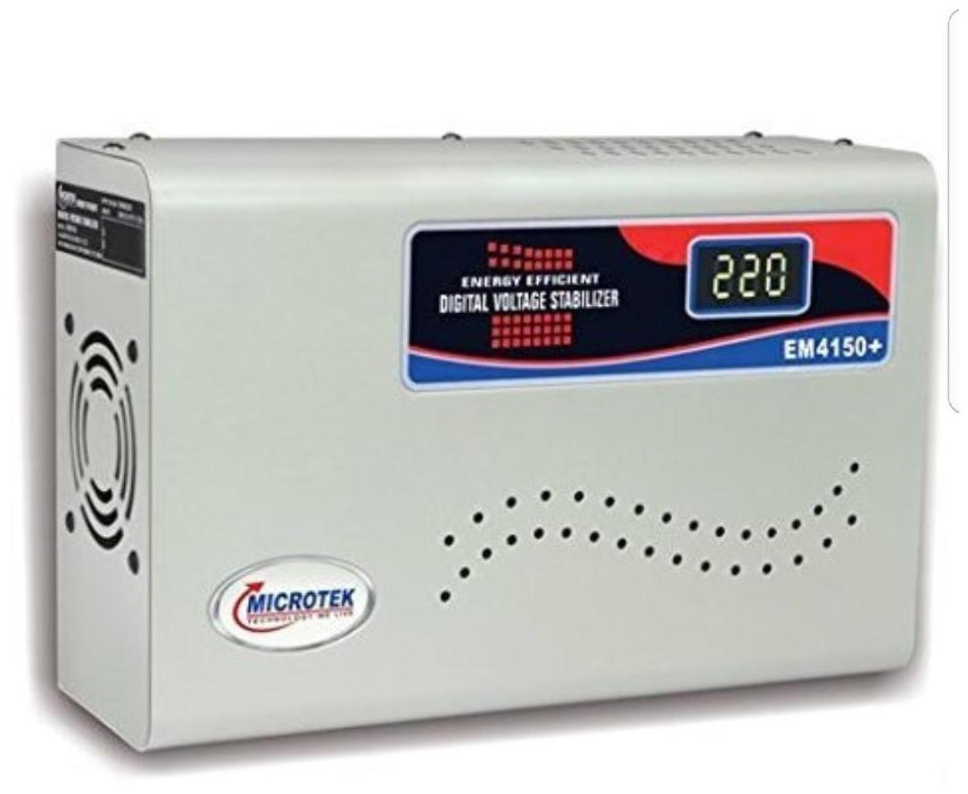 Microtek EM4150+ Voltage Stabilizer For AC upto 1.5 Ton (150V-280V)(White)