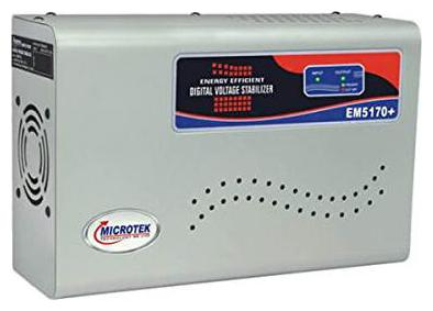 Microtek EM5170+ 170 270V Digital Voltage Stabilizer  Grey  by MS DSP Motors