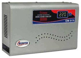 Microtek EM5130+ Voltage Stabilizer For AC upto 2 Ton (130V-300V) (Grey)