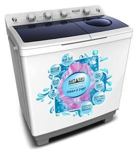 Mitashi 9.8 Kg Semi automatic top load Washing machine - MISAWM98V25 AJD , White & Grey
