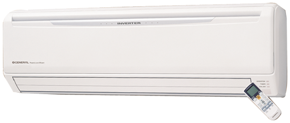 O General 2 Ton 4 Star Inverter Split AC (Copper Condensor, ASGA24JCC, White)