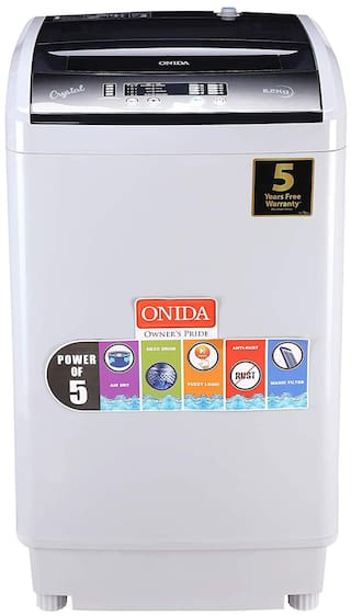 Onida 6.2 Kg Fully automatic top load Washing machine - T62CG , Grey