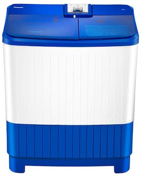 Panasonic 8 kg Semi Automatic Top Load Washer with dryer - NA-W80B5ARB , Blue & White
