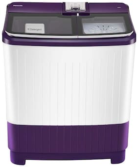 Panasonic 8 kg Semi automatic top load Washer with dryer - NA-W80G5VRB , Violet