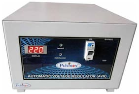 Pulstron PTI-5095 5KVA Single Phase Voltage Stabilizer 95v-290v (Grey)