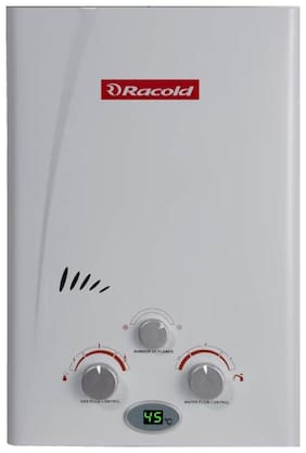 Racold LED LPG 6  ltr Gas Storage Geyser (White)