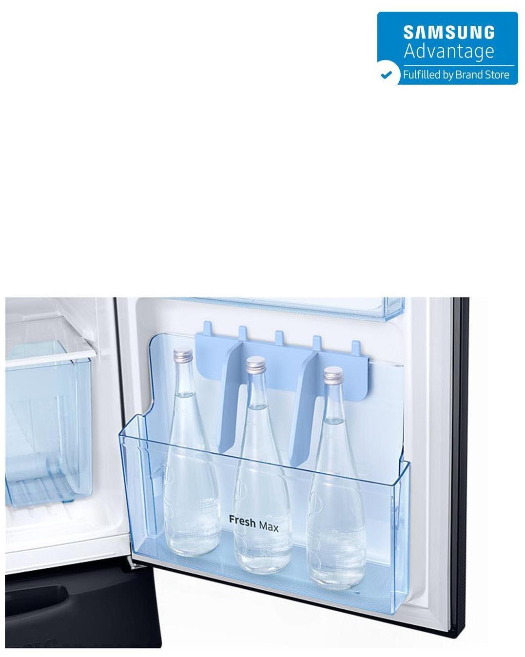 Samsung 212 L Direct Cool Single Door 5 Star Refrigerator (RR22K287ZB2, Star Flower Black)
