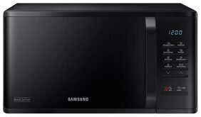 Samsung 23L Solo Microwave oven (MS23K3513AK, Black), Quick Defrost
