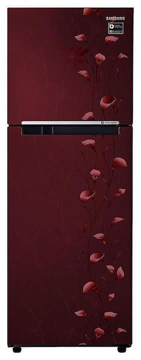 Samsung 253 L 2 star Frost free Refrigerator - RT28M3022RZ/HL , Tender lily red
