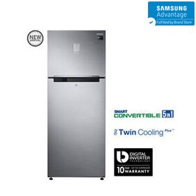 Samsung Twin Cooling Plus 476 L Double Door Refrigerator (RT49K6758S9, Refined Inox)