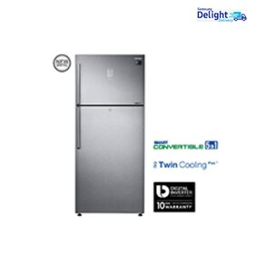 Samsung Twin Cooling Plus 551 L Double Door Refrigerator (RT56K6378SL, Easy Clean Steel)
