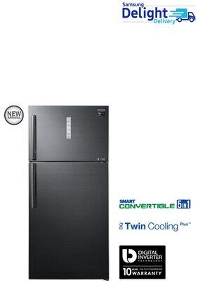 Samsung Twin Cooling Plus 670 L Double Door Refrigerator (RT65K7058BS, Black Inox)