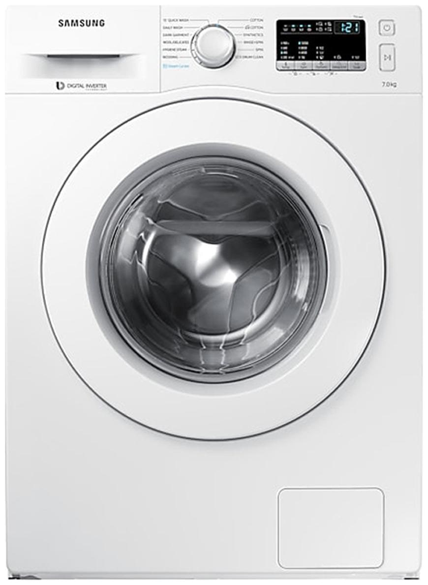 Samsung 8 kg Fully Automatic Front Load Washing machine   WW80J44G0IW , White by Maha Cashback Sale