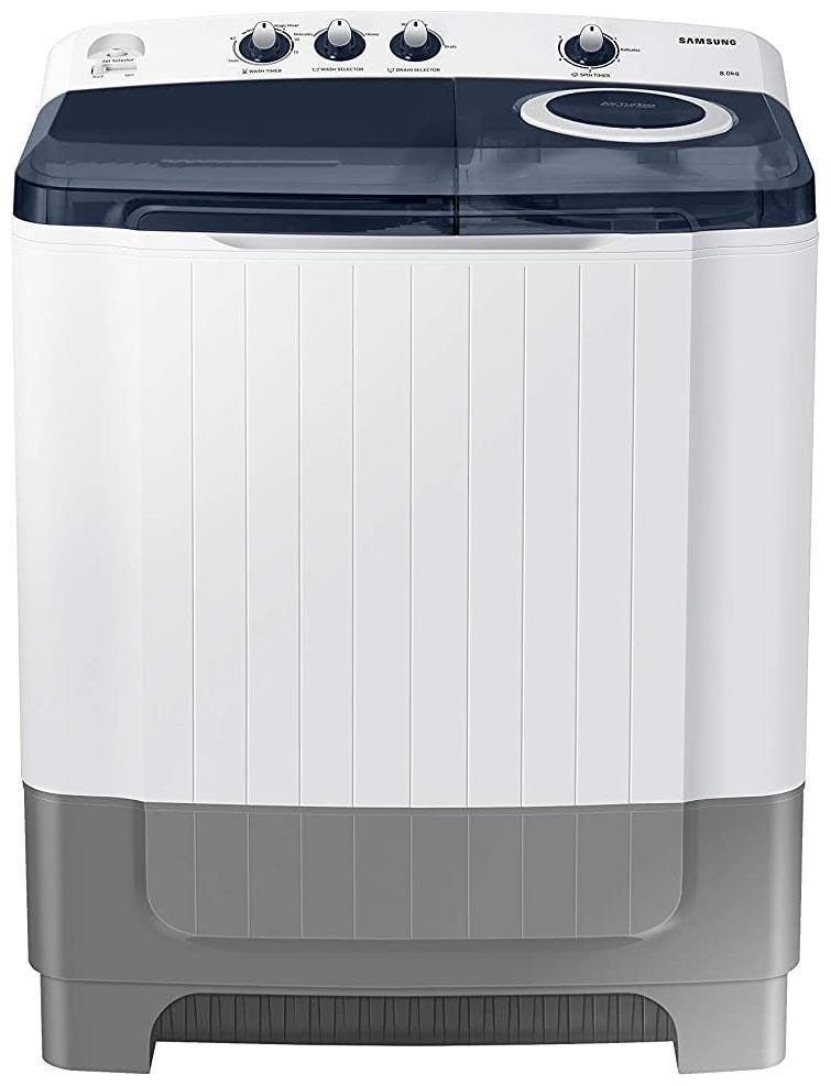 SAMSUNG 8 Kg Semi Automatic Top Load Washing Machine(WT80R4200LG, White;Royal Blue)