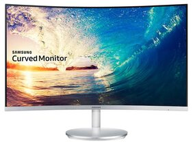 Samsung 68.6 cm (27 inch) Curved LED Monitor - Full HD, Bezel Less VA Panel with VGA, HDMI, DP, Audio in/Out Ports and Inbuilt Speakers - LC27F591FDWXXL