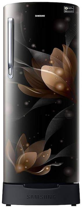 Samsung 192 ltr 4 star Direct cool Refrigerator - RR20N182YB8/RR20N282YB8 , Saffron black