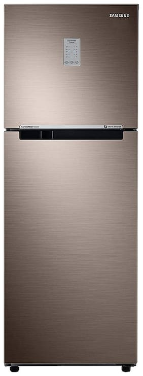 Samsung 253 L 2 star Frost free Refrigerator - RT28T3722DX/HL , Luxe brown