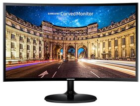 Samsung 59.8 cm (23.5 Inch) Curved LED Monitor - Full HD, VA Panel with VGA, HDMI, Audio Ports - LC24F390FHWXXL