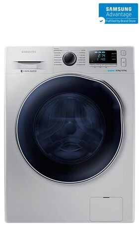 Samsung 8 Kg Fully Automatic Front Load Washing Machine ( Wd80j6410as , White )