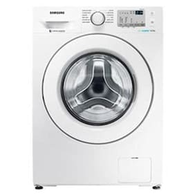 Samsung 8 kg Fully automatic front load Washing machine - WW80J4213KW/TL , White
