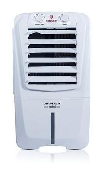 Singer Aviator Mini Personal Room Cooler 90W (10 Litre Capacity) with Honey Comb Invertor Compatible with Ice and Fragrance Chamber