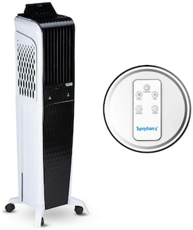 Symphony DIET 3D - 55I+ 55 L Tower Cooler ( Black & White )
