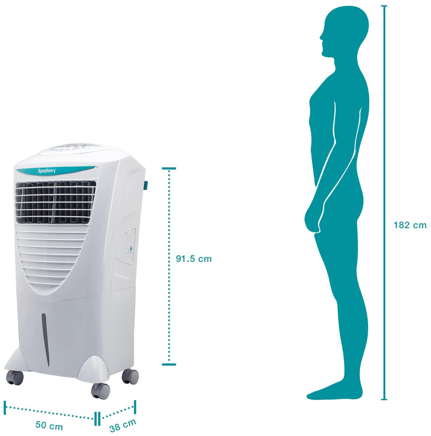 a491522af17 Symphony Hicool i 31 Litre Air Cooler (White) - with Remote Control and  i-Pure Technology Online at 15% off.