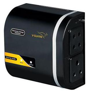 V Guard Crystal Nano Voltage Stabilizer  Black  by Granth Sales Corporation