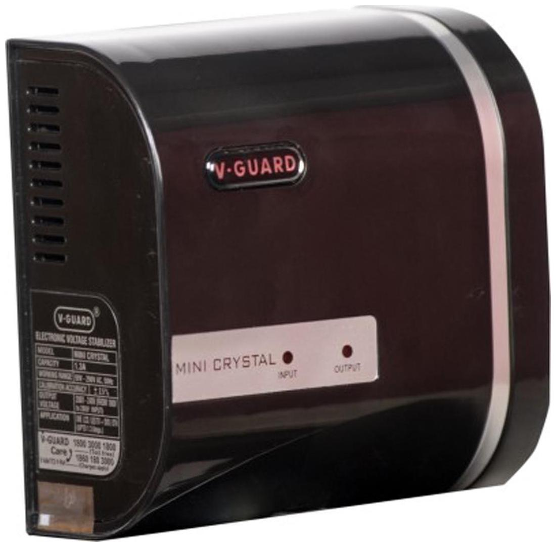 V Guard Mini Crystal Voltage Stabilizer  Black  by K3 Stores