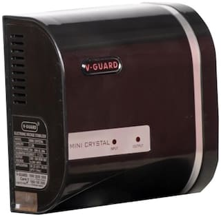 V-Guard Mini Crystal Voltage Stabilizer (Black)