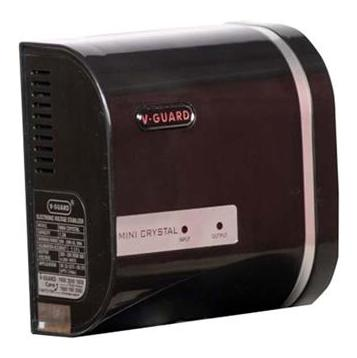 V GUARD Mini crystal Voltage Stabilizer  Brown  by Monika Electronics