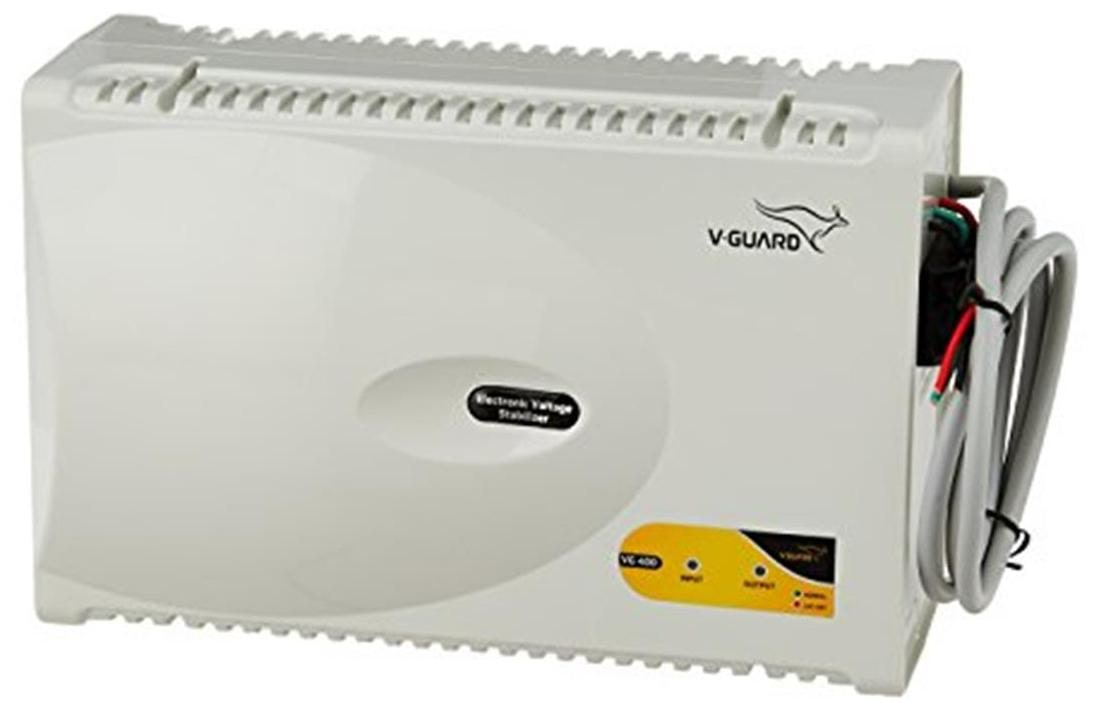 V-Guard VG 400 Voltage Stabilizer (White)
