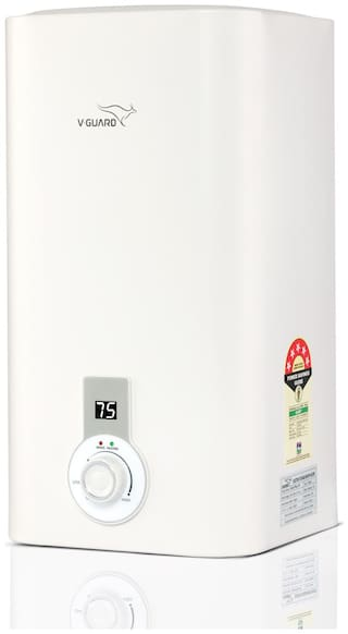 V Guard Victo Plus 25 Litre Water Heater-Free Installation With Inlet and Outlet Pipe;Digital Display
