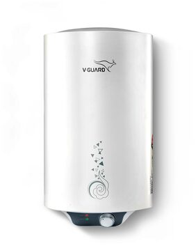 V-Guard Water Heater Victo 10 Litres - Free Installation With Inlet And Outlet Pipes (White)