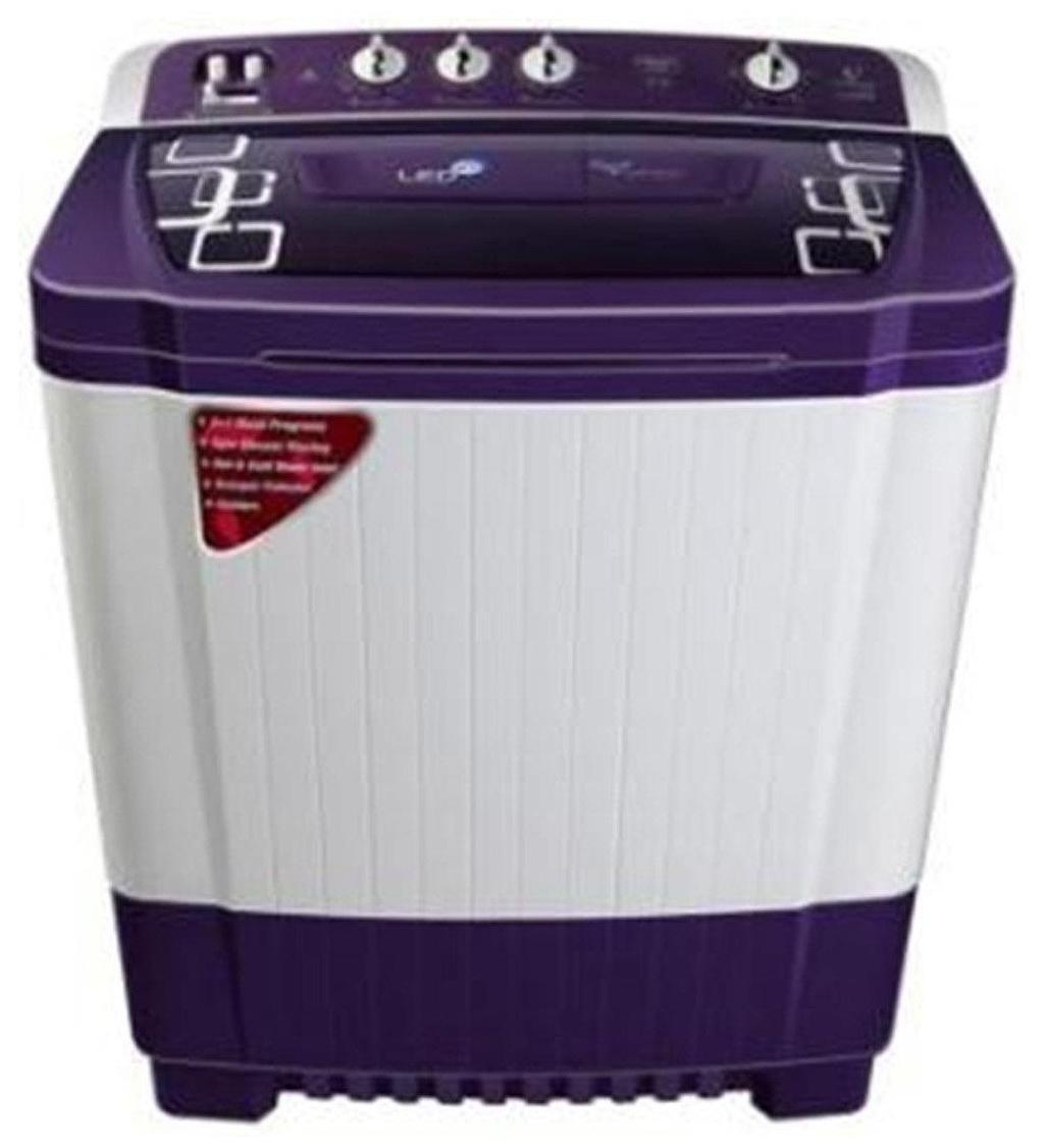 Videocon 8.5 kg Semi Automatic Top Load Washing Machine (WM VS85P18-RPK, White & Purple)