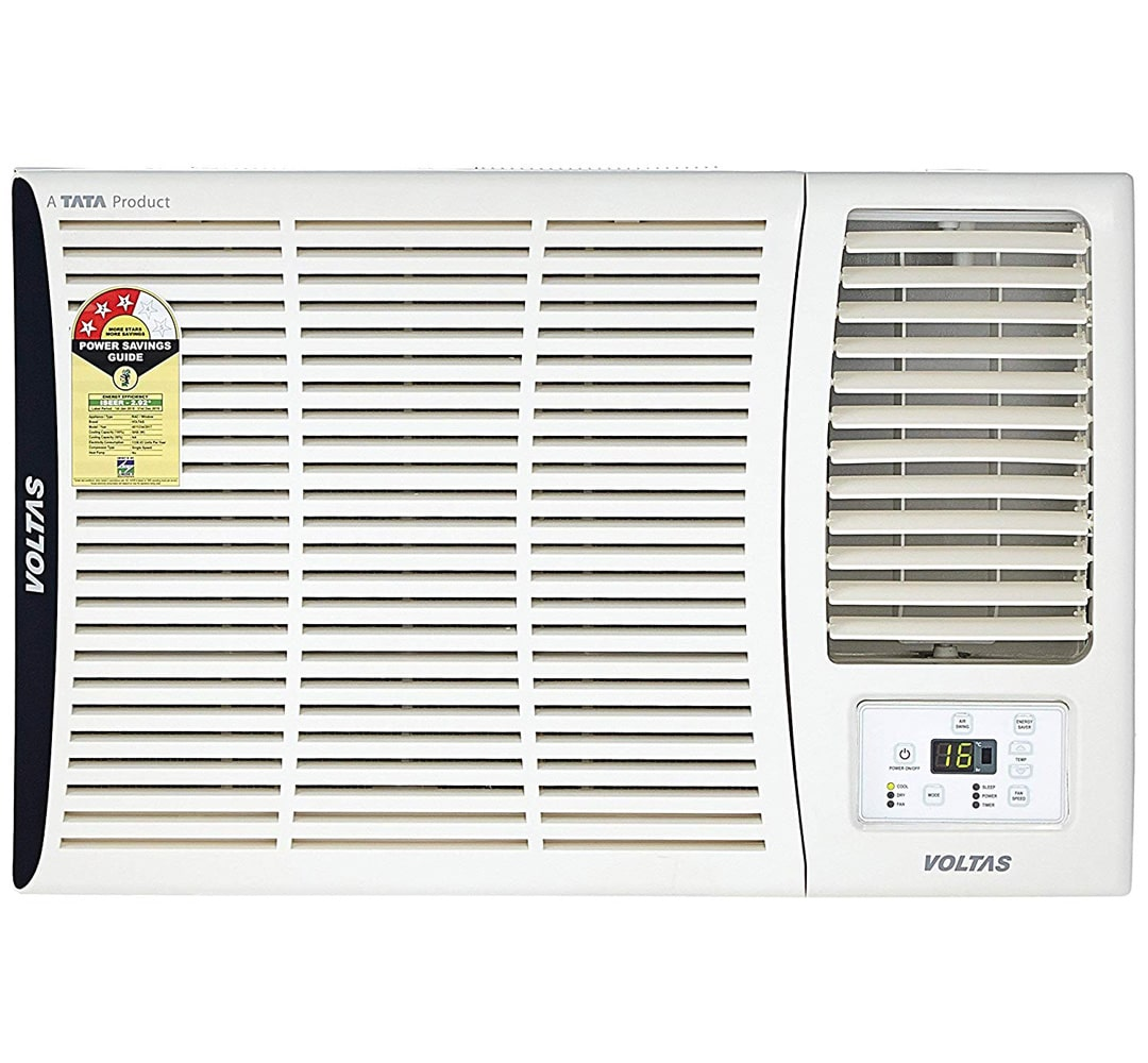 Voltas 1.5 Ton 3 Star Window AC  183 DZA, White  with Copper Condenser