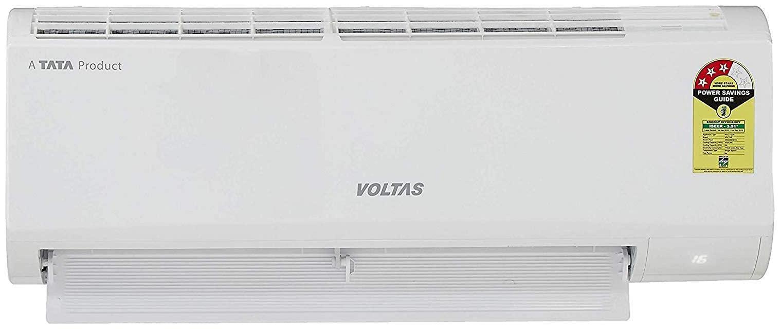 Voltas 1 Ton 3 star bee rating Inverter Split ac , 123VDZX R32  , White   by Pioneer Appliances