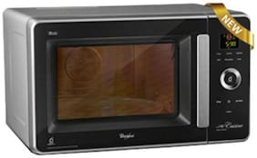 Whirlpool 29 ltr Convection Microwave Oven - JET WS CRISP 29L BLACK & SILVER , Black