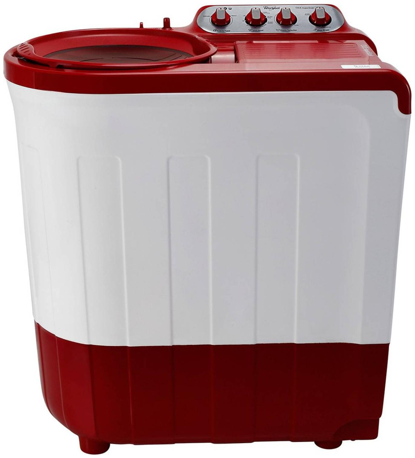 Whirlpool 7.5 Kg Semi automatic top load Washing machine   ACE 7.5 SUP SOAK  CORAL RE 30161 , Coral red