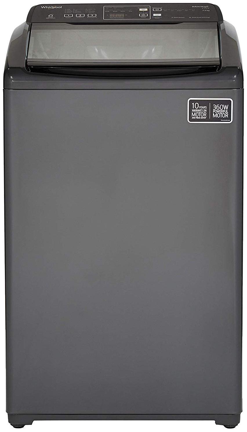 Whirlpool 7.5 Kg Fully automatic top load Washing machine   WHITEMAGIC ELITE 7.5 10YMW , Grey