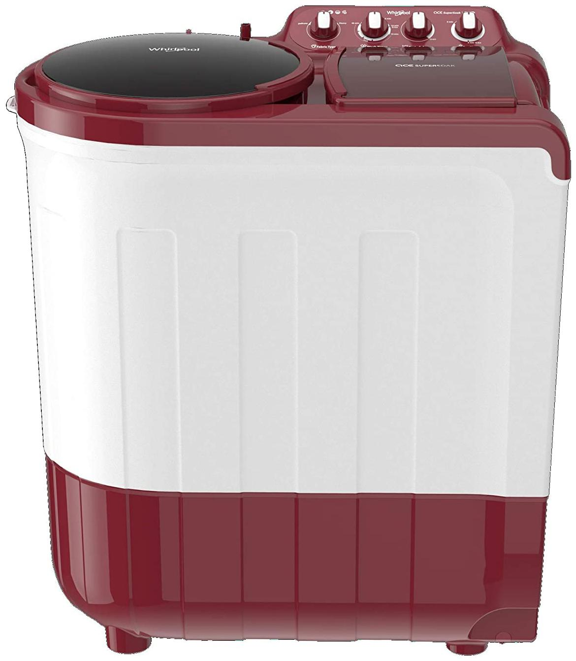 Whirlpool 8.5 kg Semi Automatic Top Load Washing machine   ACE 8.5 SUPERSOAK , Coral red