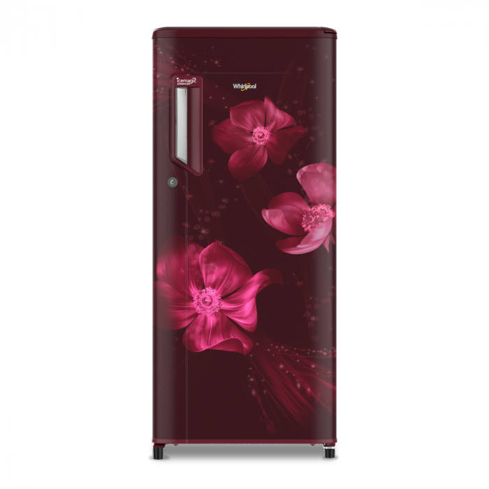Whirlpool 190 L Direct Cool Single Door 3 Star Refrigerator with Base Drawer(Wine, 71624 190 L 205 IMPC 3S Wine Magnolia)