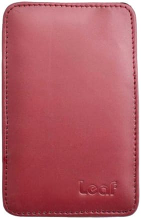 Leaf Portable External Hard Disk Protector With Extra Pocket For Cables (Maroon)