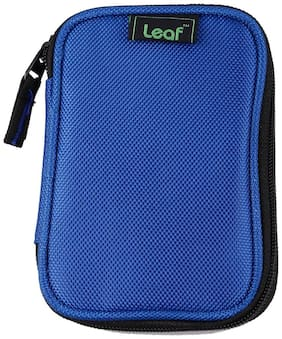 Leaf Portable External Hard Disk Protector For All 2.5 Inches Hard Drives (Blue)