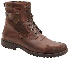 Delize Men's Brown Ankle Boots