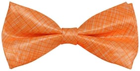 Tiekart-Men Orange Double Bow Tie