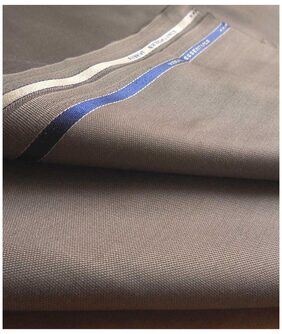 Vimal Beige Self Design Trouser Fabric