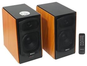 (2) Speaker Home Theater System For Sharp HDTV Television TV - Wood Finish