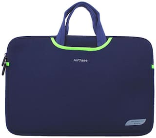 AirCase 15.6 inch Designer Neoprene Protective Handle Sleeve for Laptops (Navy Blue)