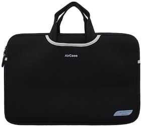 Aircase 15.6 inch Designer Neoprene Protective Handle Sleeve For Laptops (Carbon Black)
